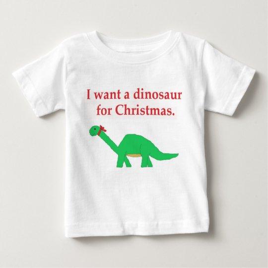 Christmas Dinosaur Baby T-Shirt