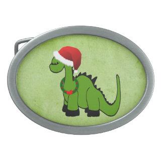 Christmas Dinosaur Belt Buckle