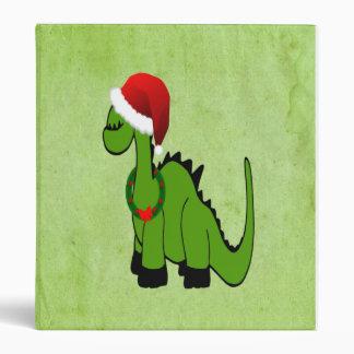 Christmas Dinosaur Binder