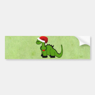 Christmas Dinosaur Bumper Sticker