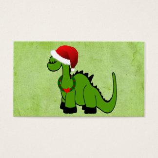 Christmas Dinosaur Business Card