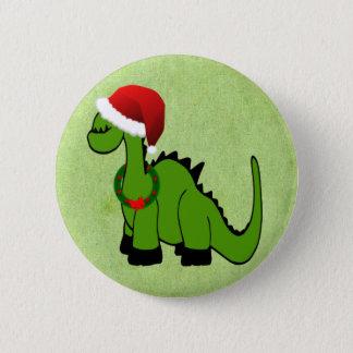 Christmas Dinosaur Button