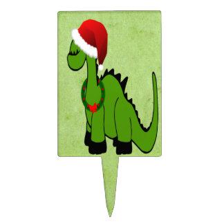 Christmas Dinosaur Cake Topper