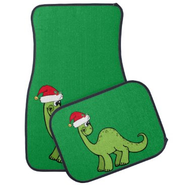 Christmas Themed Christmas Dinosaur Car Mat