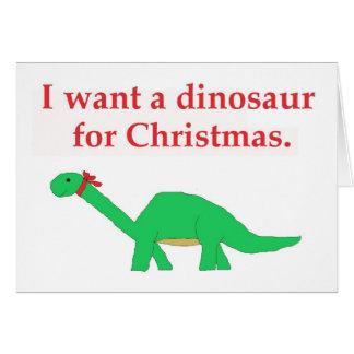 Christmas Dinosaur card