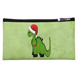 Christmas Dinosaur Cosmetic Bag