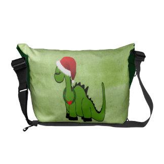Christmas Dinosaur Courier Bag