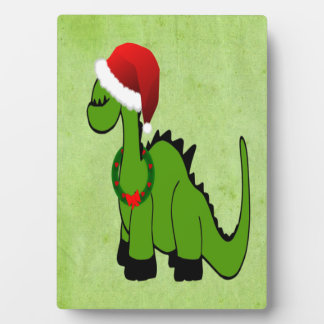 Christmas Dinosaur Plaque