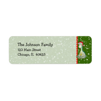 Christmas Dinosaur Return Address Label