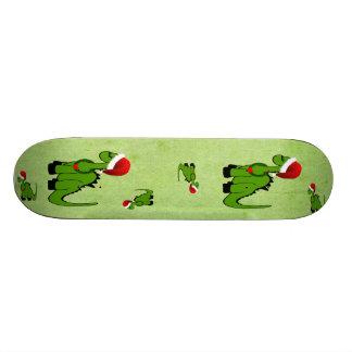 Christmas Dinosaur Skateboard Deck