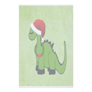 Christmas Dinosaur Stationery