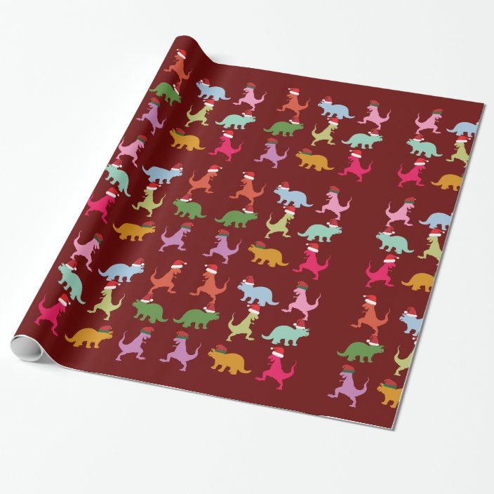 Christmas Dinosaur Wrapping Paper