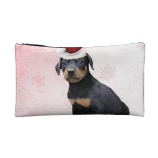 Christmas Doberman Pinscher dog Cosmetic Bag