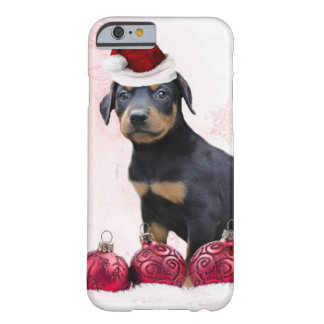 Christmas Doberman Pinscher dog Barely There iPhone 6 Case