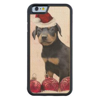Christmas Doberman Pinscher dog Carved Maple iPhone 6 Bumper Case