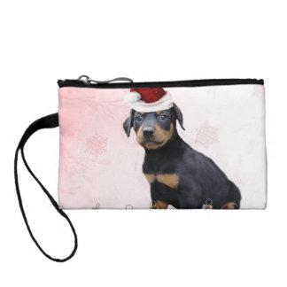 Christmas Doberman Pinscher dog Coin Wallet