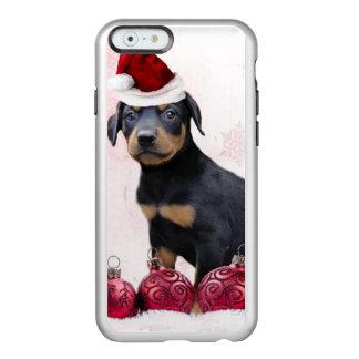 Christmas Doberman Pinscher dog Incipio Feather Shine iPhone 6 Case
