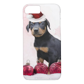 Christmas Doberman Pinscher dog iPhone 8/7 Case