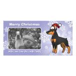 Christmas Doberman Pinscher (pointy ears) Photo Card