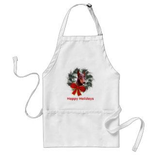 Christmas Doberman Wreath Bow Holiday Adult Apron