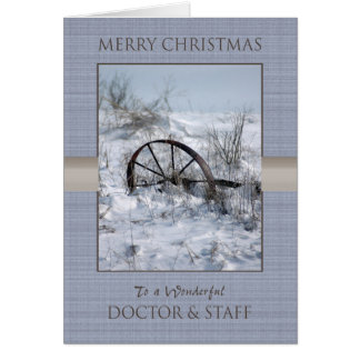 Christmas Doctor and Staff Card