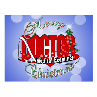 CHRISTMAS DOCTOR MEDICAL EXAMINER POSTCARD