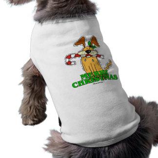 Christmas Dog & Candy Cane. T-Shirt