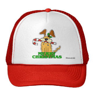 Christmas: Dog & Candy Cane Trucker Hat