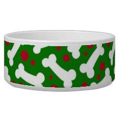Christmas Dog Dish Bones at Zazzle