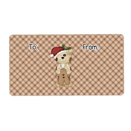 Christmas Dog Gift Label