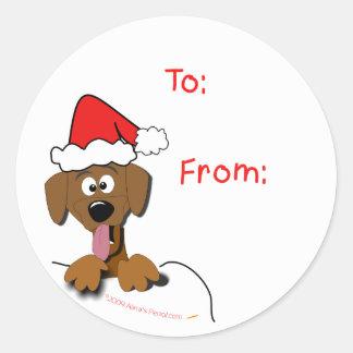 Christmas Dog Gift Tag Stickers