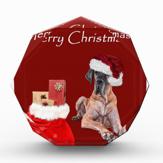 Christmas Dog Great Dane Acrylic Award
