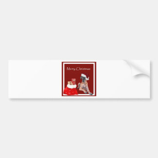 Christmas Dog Great Dane Bumper Sticker
