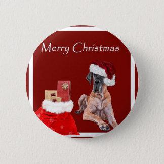 Christmas Dog Great Dane Button