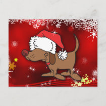 Christmas Dog Holiday Postcard