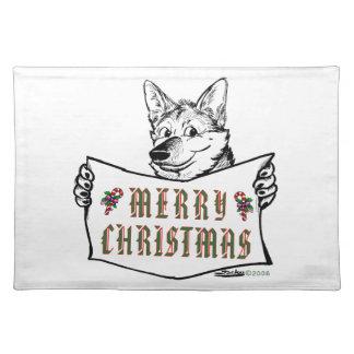 Christmas Dog:  Merry Christmas! Placemat