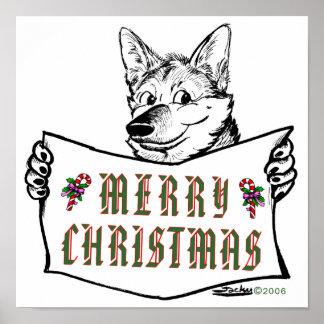 Christmas Dog:  Merry Christmas! Poster