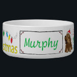 """Christmas DOG Pet Bowl &quot;Furry Little Christmas&quot;<br><div class=""""desc"""">Fun Christmas bowl for your dog. Personalize by deleting,  &quot;Murphy&quot; and replacing with your favorite font style,  color,  size and wording. &quot;Have yourself a furry little Christmas&quot; ready and waiting ... let the fun begin:) Thanks for stopping and shopping by! Your business is very much appreciate. Merry Christmas!</div>"""