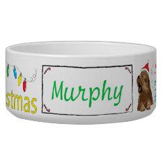 Christmas Dog Pet Bowl