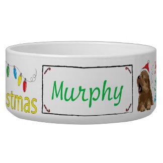 """Christmas DOG Pet Bowl """"Furry Little Christmas"""""""