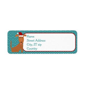 Christmas Dog Return Address Label