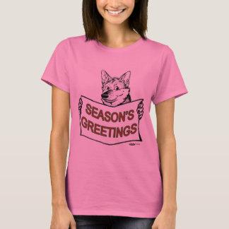 Christmas Dog:  Season's Greetings! T-Shirt