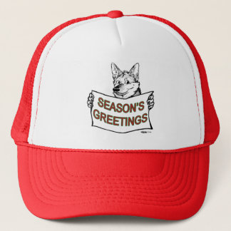 Christmas Dog:  Season's Greetings! Trucker Hat