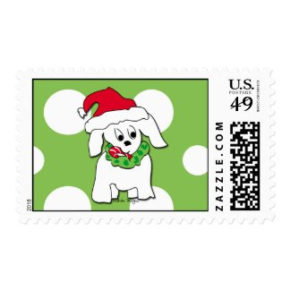 cute dog Christmas Stamps