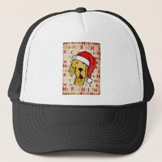 Christmas dog trucker hat
