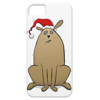 Christmas Dog Wearing Santa Hat iPhone 5 Case