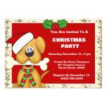 Christmas Dog with Bone Christmas Party Invitation