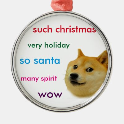 personalized such christmas doge ornament zazzlecom - Christmas Doge