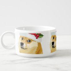 Christmas doge - santa doge - christmas dog bowl