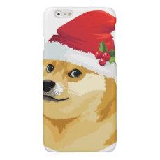 Christmas doge - santa doge - christmas dog glossy iPhone 6 case